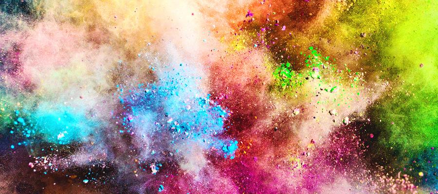 poudre de couleur Holi